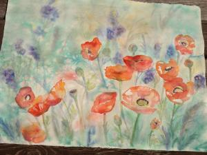 Poppies - my mother's