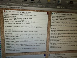 Notecards on Scrivener